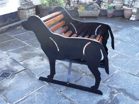 Single Seater Labrador Bench