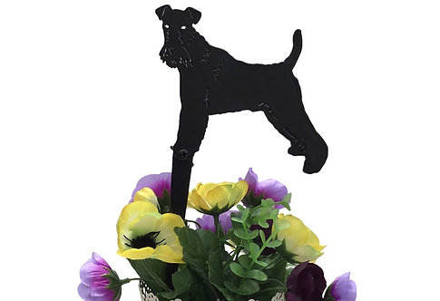 Wired Fox Terrier Flowerpot Stake