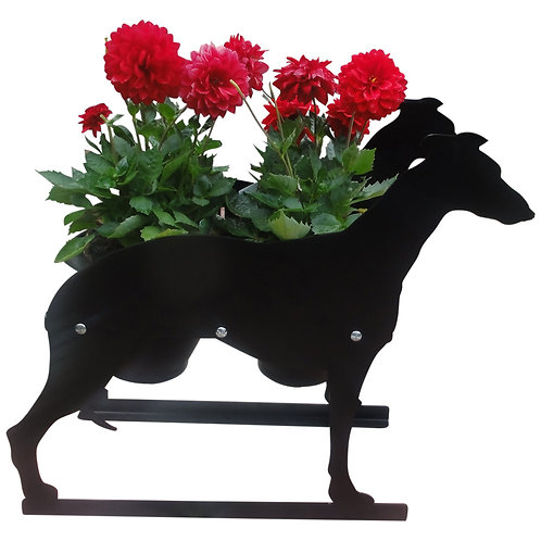Greyhound Themed Planter