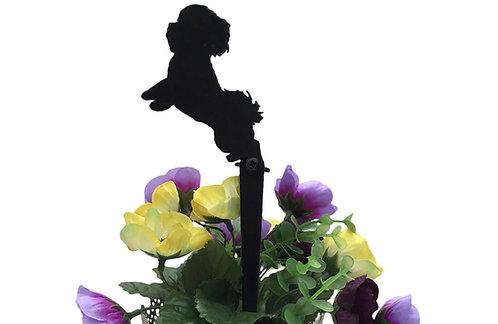 Bichon Frise Flowerpot Stake