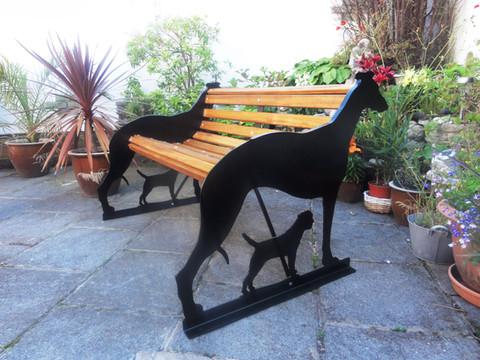 Greyhound & Border Terrier Bench
