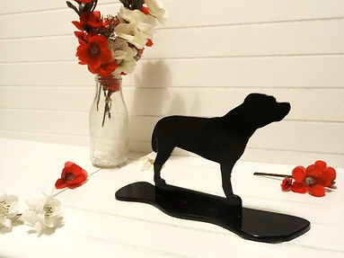 Staffordshire Bull Terrier Ornament Sillhoutte