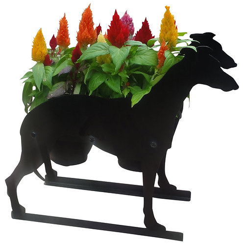 Greyhound Themed Planter