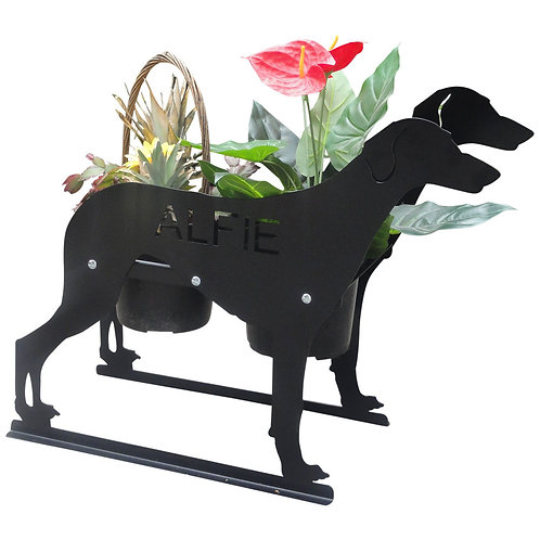 Saluki  Themed Planter
