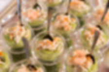 Verrine guacamole et crevettes