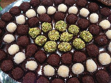 Brigadeiros chocolat, pistache et coco