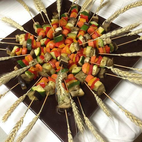 Mini brochette aux légumes grillés  - 10 pièces