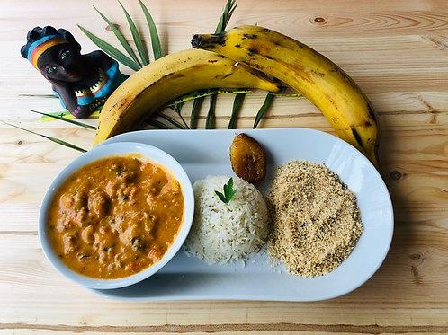 Moqueca végétarienne (banane plantain) Plat familial pour 10 personnes