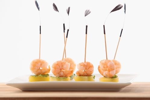Mini brochette crevette, ananas et coriandre  - 10 pièces