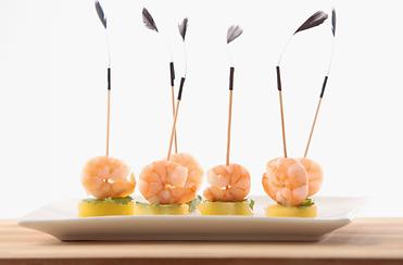 Mini piques crevettes ananas