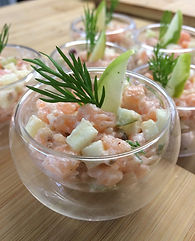Verrine saumon pommes verte