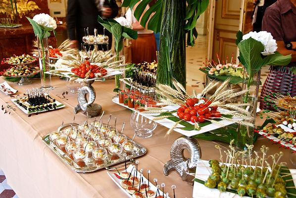 Nos buffets de réceptions