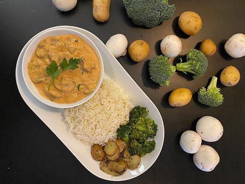 Fricassée de champignons (plat végétarien familial pour 10 pers.