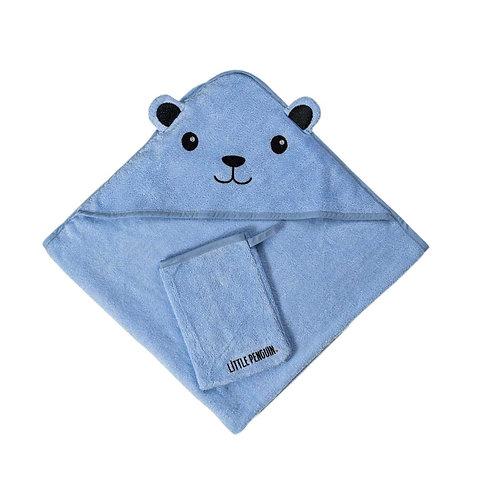 מגבת לתינוק עם קפוצ'ון - כחול