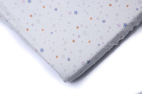 סדין למיטת תינוק - כוכבים