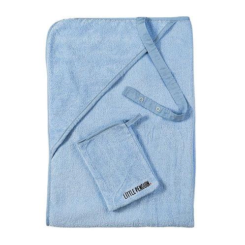 מגבת לתינוק עם קשירה - כחול