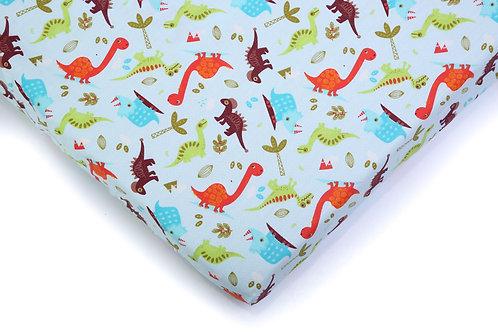 סדין למיטת תינוק - דינוזאור