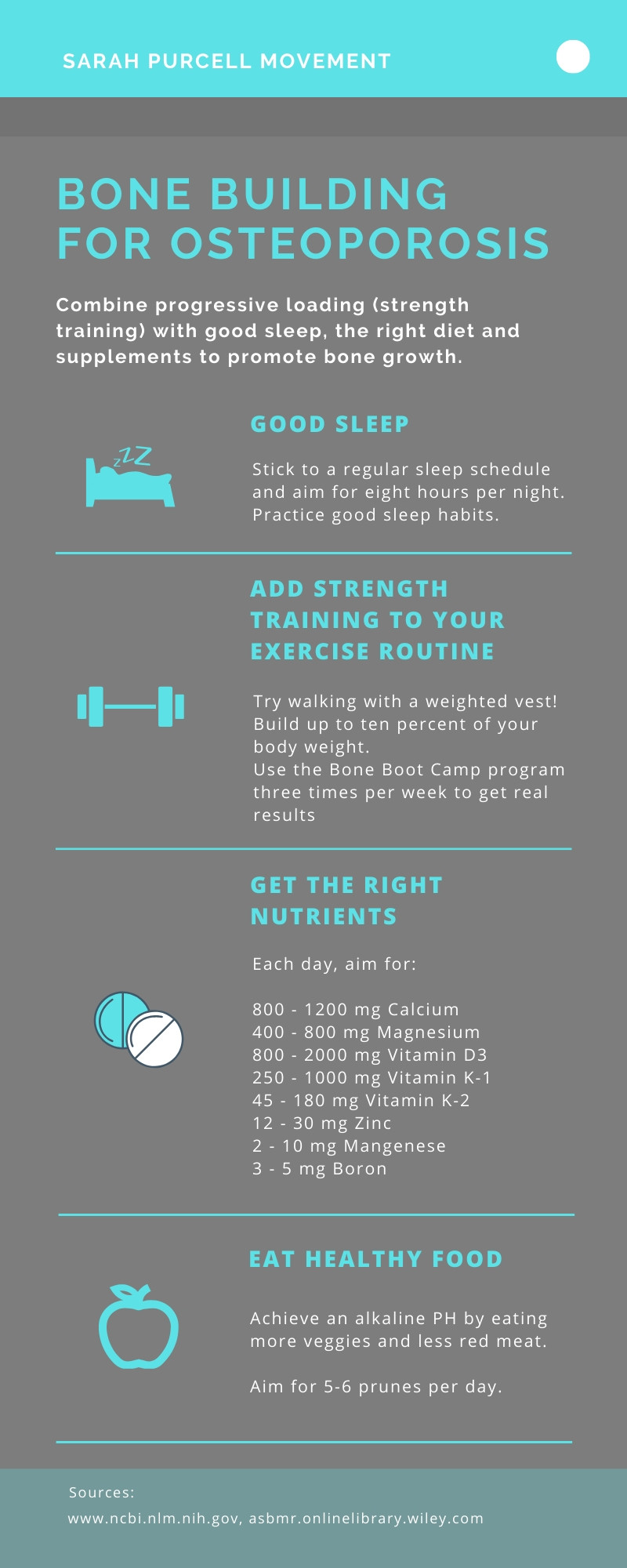Diet, exercise, and nutrition tips for building bone