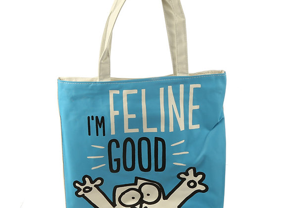 Katoenen tas 'Simon's Cat - I'm Feline Good' met rits