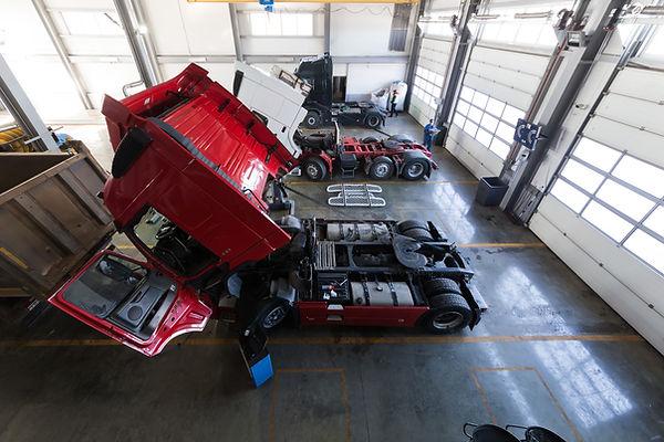 Service maintenance and repair of trucks