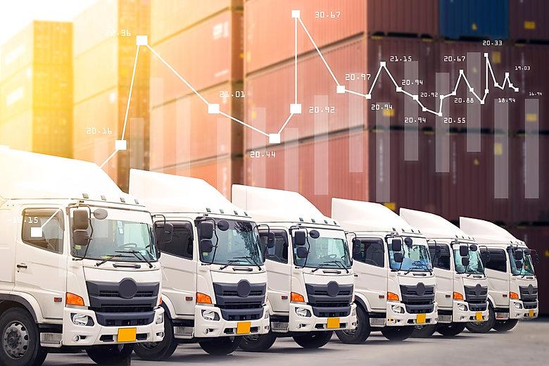 New truck fleet service in logistics shi