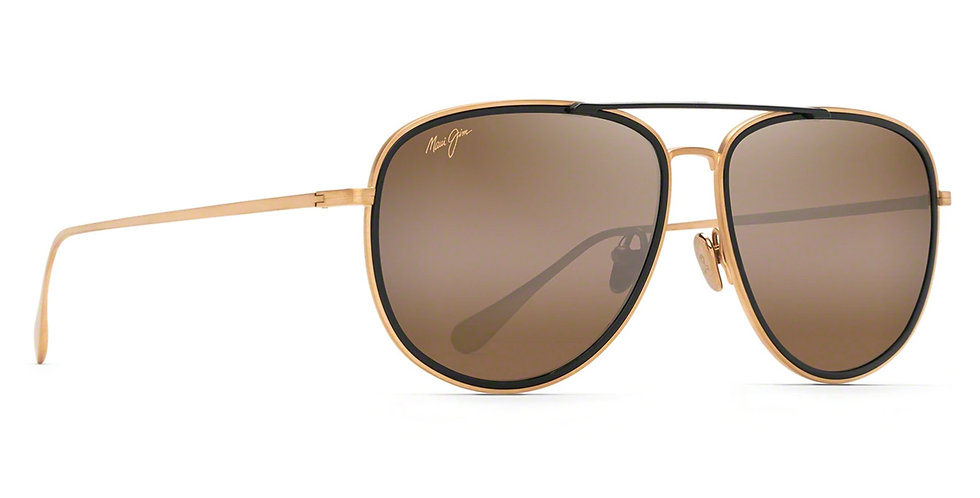 Maui Jim Lentes de Sol Polarizados Fair Winds Oro Mate con Borde Negro Brillante