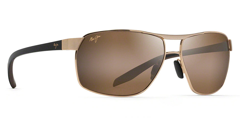 Maui Jim Lentes de Sol Polarizados The Bird Oro con  Negros y Caucho Marron