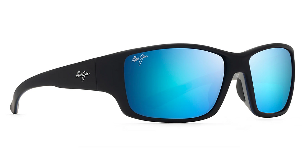 Maui Jim Lentes de Sol Polarizados Local Kine Negro Suave con Azul Marino y Gris