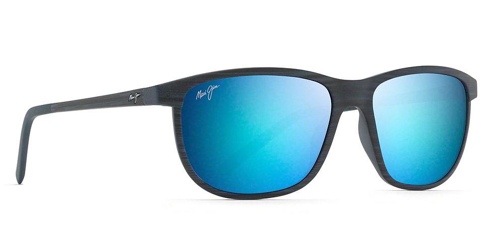 Maui Jim Lentes de Sol Polarizados Dragon's Teeth Rayas Azul Marino Oscuro