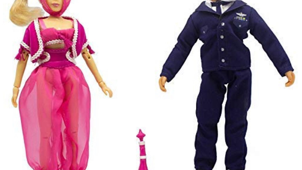 """Mego 2018 Classic 8"""" Action Figure Box Set I Dream Of Jeannie and Major Nelson"""