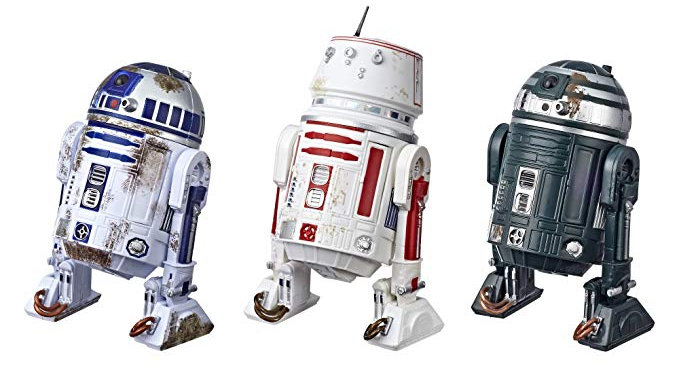 Star Wars Black Series Exclusive Six Inch Scale Droid 3 Pack R2-D2, R5-D8, R2-X2