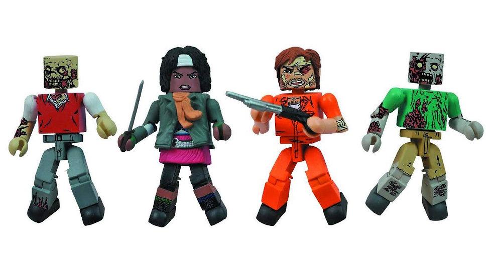 Diamond Select Toys Walking Dead Minimates Prison Outbreak, 4-Pack