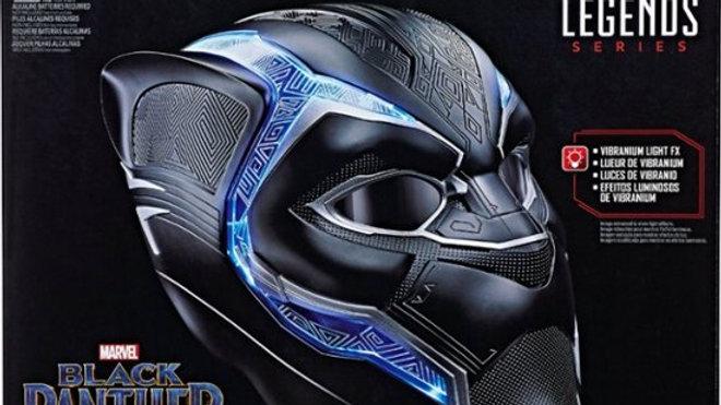 Marvel - Marvel Legends Series Black Panther Electronic Helmet - Black