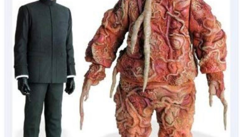Dr. Who/Master and Axon Action Figures 3rd. Doctor