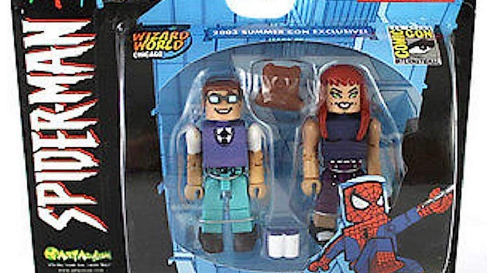 Minimates Spider-Man Peter Parker and Mary Jane 2 pack Mini Figure