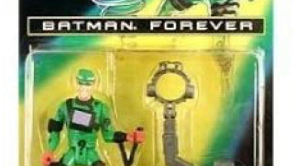 5' Jim Carrey As the Riddler Action Figure with Trapping Brain-Drain Helmet! - B