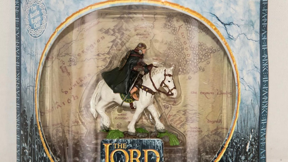Lord of the Rings,Armies of Middle Earth Merry in Rohan Armor on Pony