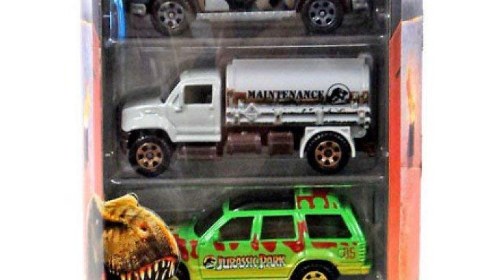 Matchbox Jurassic World Legacy Collection 5-Pack ~ Island Explorers ('97 Mercede