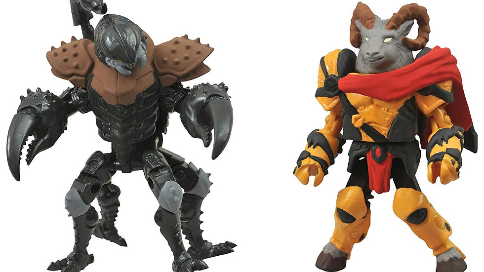 DIAMOND SELECT TOYS Battle Beasts Minimates Series 1: Vorin and Scorpion, 2-Pack