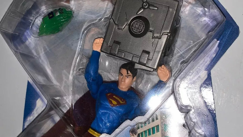 Superman X-Ray Alert Superman Returns Action Figure 2006 Mattel DC WB 5""