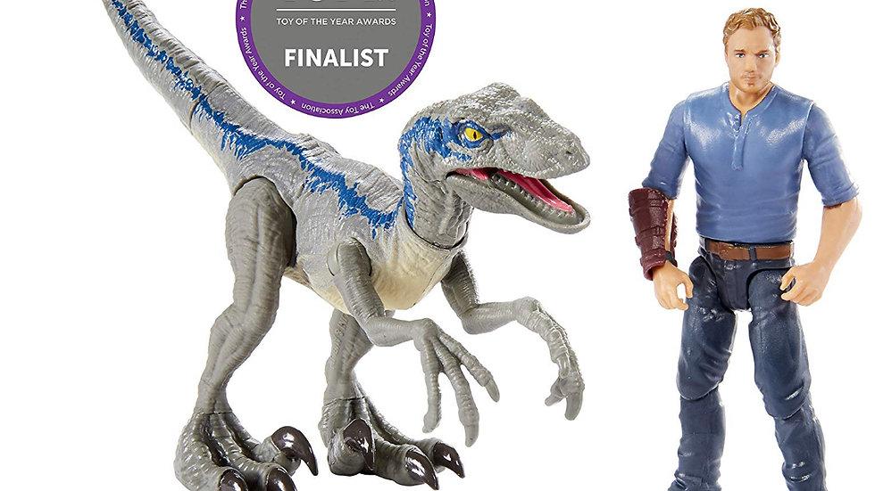 "Jurassic World Velociraptor ""Blue"" & Owen Figure Pack"