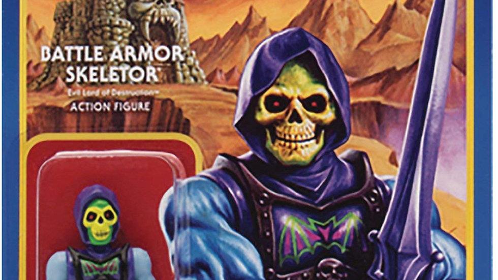 Super 7 Masters of The Universe Reaction Figures Wave 3: Battle Armor Skeletor A