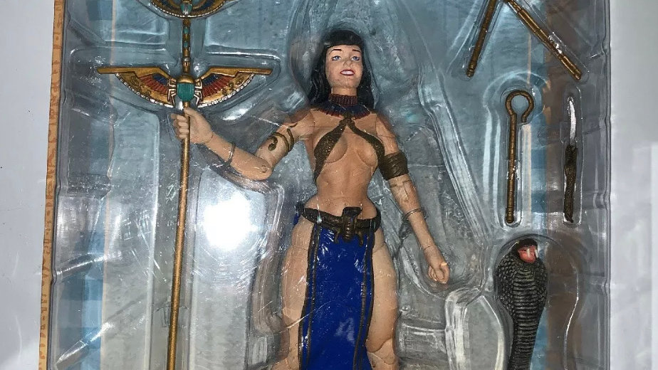 "BETTE PAIGE As CLEOPATRA Dark Horse Deluxe 7"" Action Figure 2004 Rare Vintage"