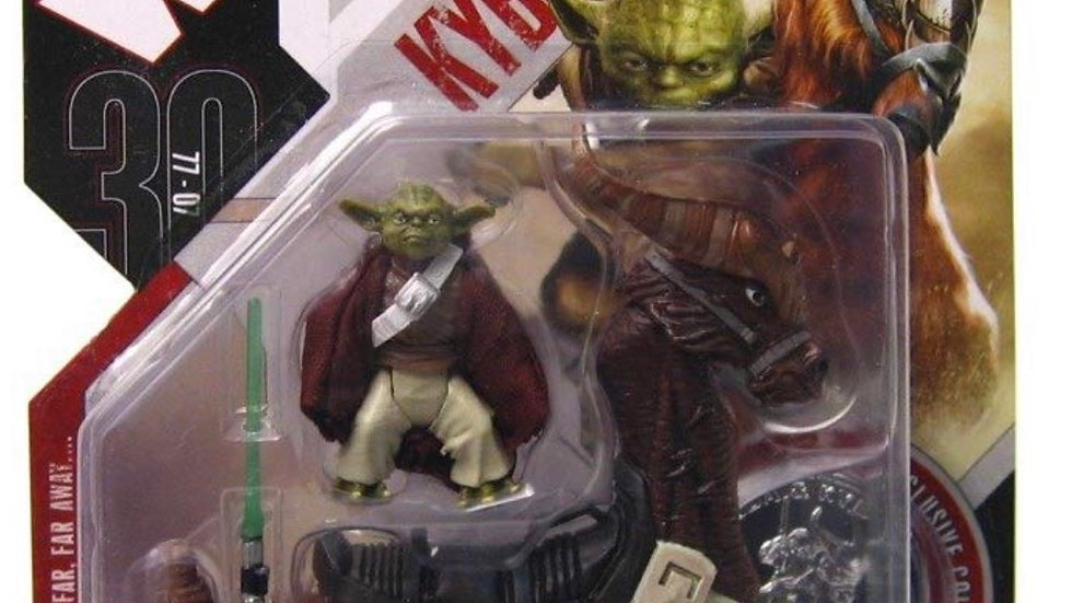 Star Wars 30th Anniversary Yoda with Kybuck Action figure with Coin