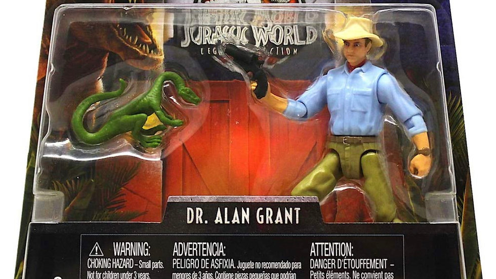 "Dr. Alan Grant Poseable Action Figure 3.75"" Jurassic World Legacy Collection"