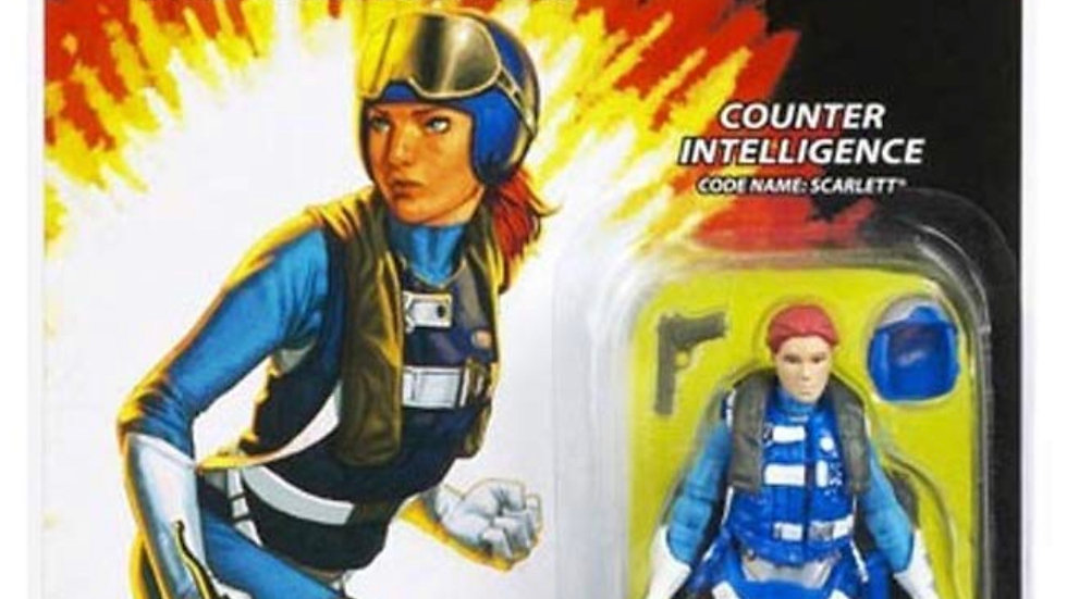 G.I. Joe, 25th Anniversary Action Figure Counter Intelligence Code Name: Scarle