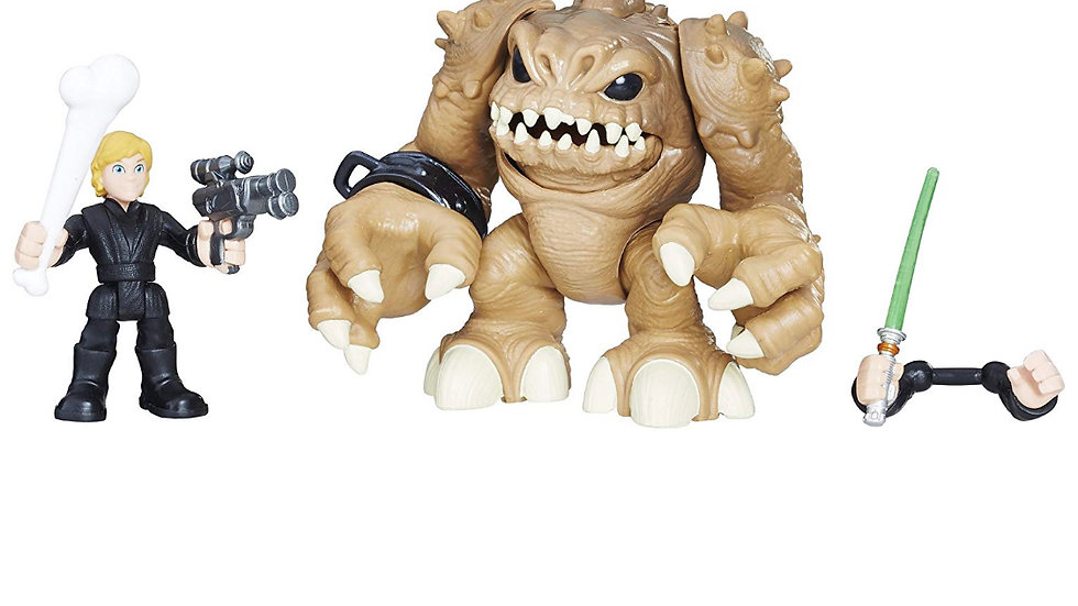 Star Wars Galactic Heroes Luke Skywalker and Rancor