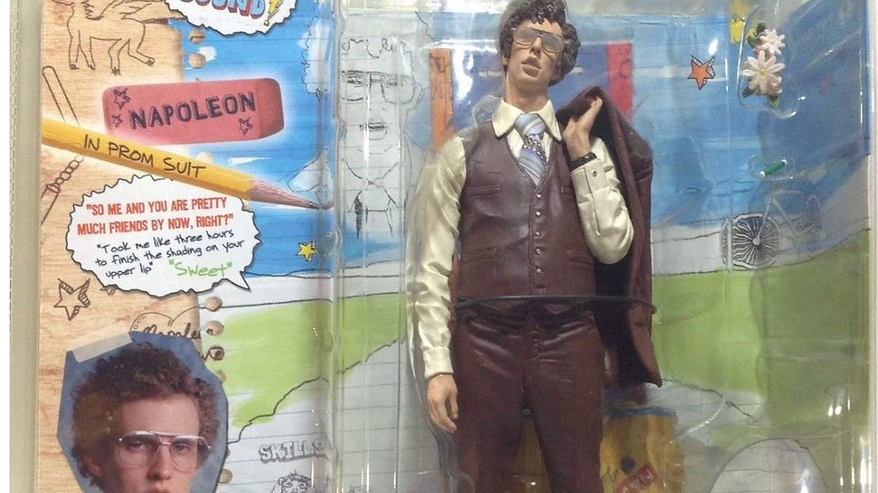 "2005 McFarlane Napoleon Dynamite Napoleon in Prom Suit 7"" Figure with Sound"
