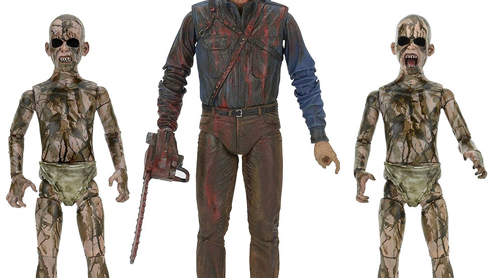 NECA Bloody Ash vs Demon Spawn Action Figure (3 Pack), 7""