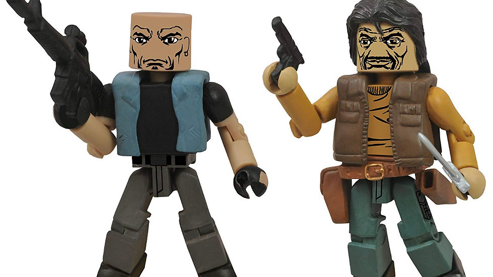 The Walking Dead Minimates: Series 4 The Governor and Bruce Action Figure 2-Pack